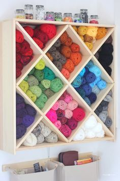 excellent storage ideas for your craft room Yarn Storage Cubbies - Awesome DIY Craft Room Organization Ideas To Steal Right Now!Yarn Storage Cubbies - Awesome DIY Craft Room Organization Ideas To Steal Right Now! Craft Room Storage, Craft Rooms, Kitchen Storage, Fabric Storage, Toy Storage, Diy Yarn Storage Ideas, Paper Storage, Storage Hacks, Plastic Storage