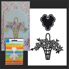 Easter Basket die set CR1209 Marianne Design metal cutting dies Flowers #Marianne