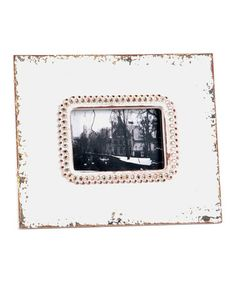 Take a look at this White Weathered Rhinestone Frame by Wilco on #zulily today!