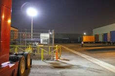 Solar Light Towers are used at TopOcean Logistics in City of Industry, CA for 24/7 security guards, overseeing 450,000 sf warehouse. www.SolarLightingTower.com