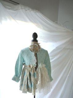 Bridal shrug Romantic Boho winter jacket Mori by TrueRebelClothing