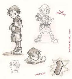 little boy sketch Alessandro Barbucci