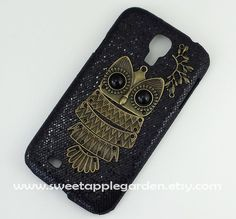 Samsung Galaxy S4 i9500 case Bronze Owl bling by sweetapplegarden
