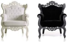 Image detail for -black and white leather chair design - Baroque Classic Style Furniture . Baroque Furniture, Furniture Decor, Living Room Furniture, Furniture Design, Baroque Decor, Furniture Outlet, Furniture Stores, Discount Furniture, White Leather Chair