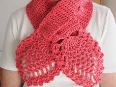 Crochet Cotton Beanie Hat and Pineapple Scarf Set by JanesMakings, £15.00
