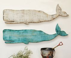 wooden whale wall hanging | All Products / Accessories & Decor / Artwork
