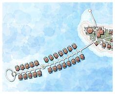 maldives resort, preliminary master plan, island villas, sea resorts, beach resort, tropical beach resort