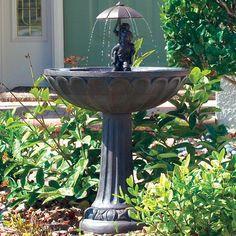 Duncraft.com: Summer Play Solar Fountain