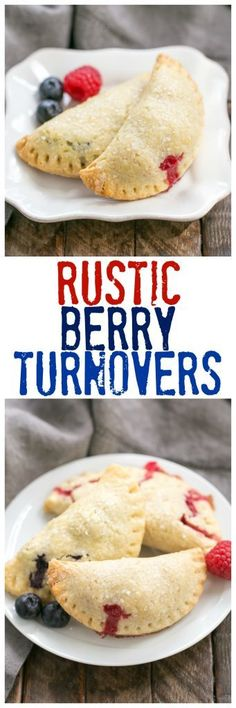 Rustic Berry Turnovers   Buttery crusts + sweetened berries make these fabulous hand pies! @lizzydo