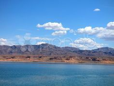 Fluffy Clouds Over Beautiful Lake Mead - Stock Footage Lake Mead, Turquoise Water, Lake Life, Lakes, Stock Footage, Waterfall, Clouds, Sky, Memories