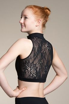 51ac8e68c0 Zip Front Crop Top with Kara Lace Lace Crop Tops
