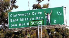funny billboards, funny graffiti
