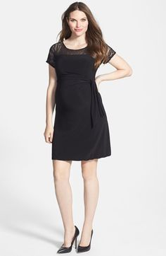 Japanese Weekend Maternity Lace Yoke Side Tie Maternity Dress at Nordstrom.com. A softly draped jersey dress is given an elegant touch of lace at the yoke and sleeves for an occasion-worthy look. The versatile, ever-flattering silhouette adjusts to fit your changing silhouette.