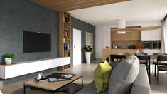 Interior Design Living Room, Living Room Designs, Flat Screen, Conference Room, Bedroom Decor, Architecture, Table, House, Inspiration