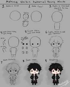 sis wanted to learn to draw chibis soo my attempt at a tutorial or something xD