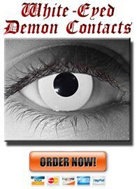 Full White Eye Contacts
