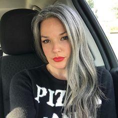 Grey Blonde Hair, Grey Hair Don't Care, Long Gray Hair, Fine Hair Updo, Grey Hair Model, Charcoal Hair, Silver White Hair, Grey Hair Styles For Women, Grey Hair Inspiration