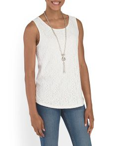 image of Floral Knit Tank