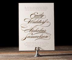 Whisper Letterpress Stationery from Bella Figura