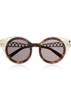 House of Holland Frame Ache round-frame metal-trimmed sunglasses | NET-A-PORTER