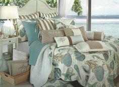 Seashore Quilt, Tropical Bedding ...like everything BUT the quilt!....