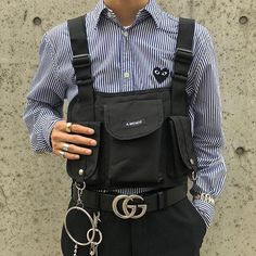Discover Our Streetwear Chest Bag⬇️ streetwear highsnobiety fashion street styles urban aesthetic outfits men women sneakers hypebeast Urban Fashion, Mens Fashion, Fashion Outfits, Queer Fashion, Fashion Edgy, Cheap Fashion, Fashion Killa, Fashion Styles, Style Fashion