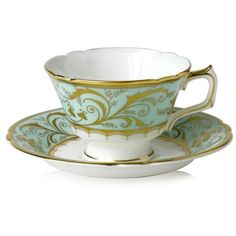 Royal Crown Derby  Darley Abbey Tea Cup (330 BRL) ❤ liked on Polyvore featuring home, kitchen & dining, drinkware, decor, dishes, fillers, tea, multi, royal crown derby and royal crown derby tea cup
