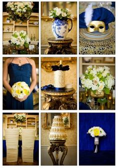 French Luxury Blue And Gold
