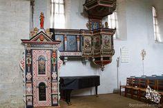 Kanzel in der Aa Kirche in Aakirkeby, Bornholm #kanzel #aakirche #aakirke #aakirkeby #kirche #kirke #bornholm