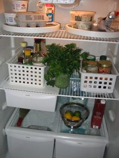 even the refrigerator can be organized!