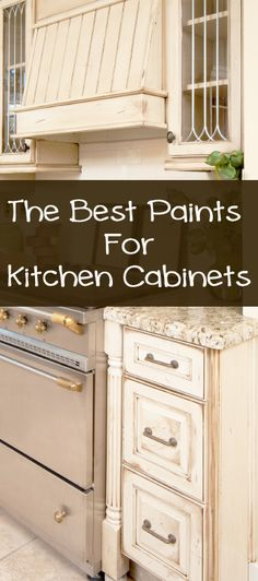 When painting your kitchen cabinets, you will need a high quality paint that is durable and looks nice. Some of the best quality paints to use on kitchen cabinets are: Annie Sloan Chalk Paint Annie Sloan paint is great because it doesnt require a primer, just a light sanding