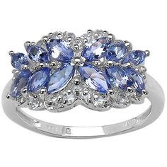 Malaika Sterling Silver 1 2/5ct TGW Tanzanite and White Topaz Butterfly Ring - 16976853 - Overstock.com Shopping - Top Rated Malaika Gemstone Rings