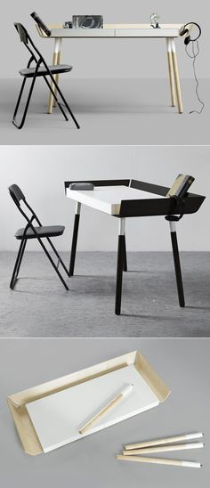 My Writing Desk, from Lithuanian design couple Inesa Malafej and Arunas Sukarevicius of Design Studio Etc.Etc. out of Copenhagen.