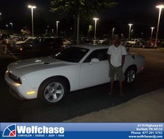#HappyAnniversary to Keith Jones on your 2013 #Dodge #Challenger from Rufus Johnson Jr at Wolfchase Chrysler Jeep Dodge!