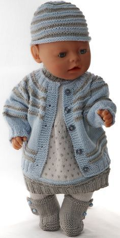 Baby born kleidung stricken 48 ideas for 2019 Knitting Dolls Clothes, Knitted Dolls, Doll Clothes Patterns, Doll Patterns, Clothing Patterns, Baby Born Clothes, Girl Doll Clothes, Baby Knitting Patterns, Baby Born Kleidung
