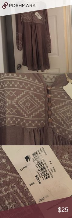 Brown sweater dress New with tags. Dresses