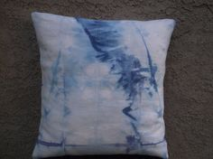 Shibori Hand Tie dyed Pillow Cover throw pillow by AddisonMade, $45.00