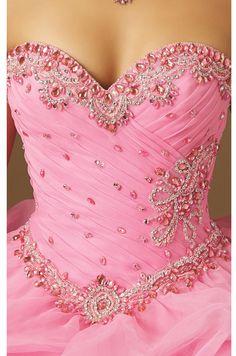 Jeweled Ruffled Organza Ballgown www.findress.com Modest Wedding Dresses, Prom Dresses, Formal Dresses, Super Cute Dresses, Pretty Dresses, Pretty Quinceanera Dresses, Fantasy Dress, Bustiers, Beautiful Gowns