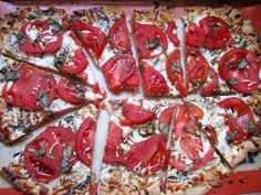 Whole Wheat Margherita Flatbread with Balsamic Reduction.... YES, PLEASE!