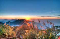 Sunset over Alishan Range at Xiding, Alishan National Park, Taiwan (2)