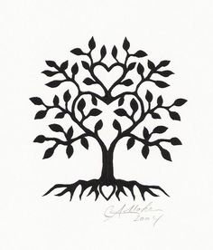 heart with tree tattoo - Google Search