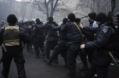 Protesters took many riot police prisoner on Thursday as well.