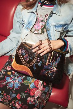 River Island focuses on embroidered bags in fall 2016 campaign
