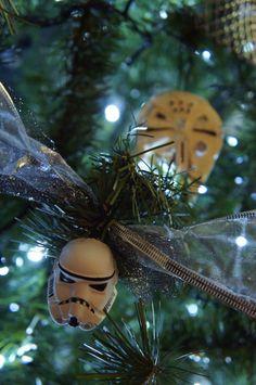 Star Wars Christmas tree ornament diy / stormtrooper and Millenium Falcón / Navidad