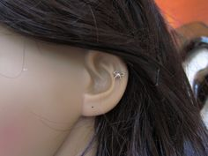 Sterling Silver Bow Cartilage Earring Bow stud by GreatJewelry4All, $11.00