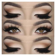 41 Incredibly Stunning Cat Eye Makeup Tutorials ❤ liked on Polyvore featuring beauty products, makeup, eye makeup, eyes, liquid eyeliner and liquid eye liner