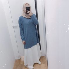 Stylish Hijab, Casual Hijab Outfit, Ootd Hijab, My Outfit, Outfit Ideas, Hijab Fashion, Fasion, Tank Top Outfits, Very Lovely