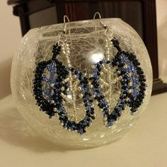 seed bead leaf earrings  Took me a long time but they're complete!  I think earrings are more difficult to make because they're so tiny to work with!