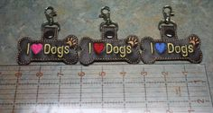 I Love Dogs Key Chain Zipper Pull Purse Charm by DollyGeeWillikers