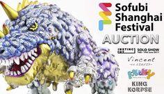 Instinctoy Sofubi Shanghai Festival auction and Solo Show